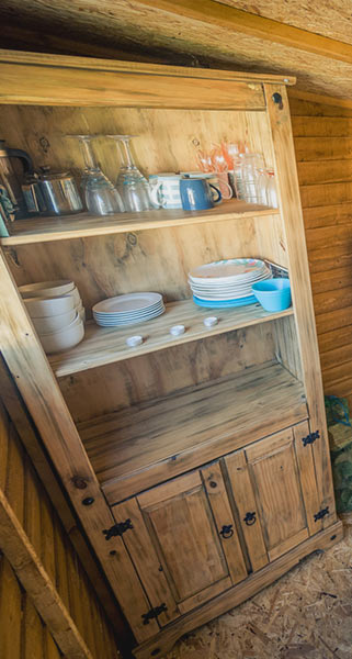 Wooden Kitchenette Cupboard