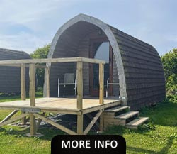 Glamping Pod on a North Wales campsite